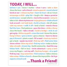 Thank a Friend Wall Art Poster
