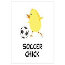 Soccer Chick Wall Art
