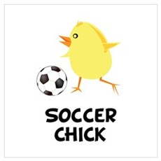 Soccer Chick Wall Art Framed Print