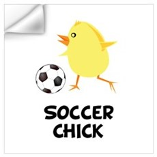 Soccer Chick Wall Art Wall Decal
