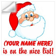 Personalized Nice List Wall Art Wall Decal
