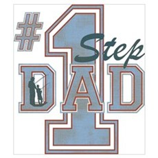 Number 1 Step Dad Wall Art Canvas Art