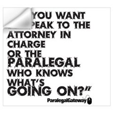 Paralegal In Charge [Text Bla Wall Art Wall Decal