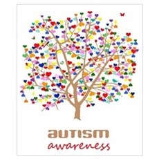 Tree of Autism Wall Art Poster