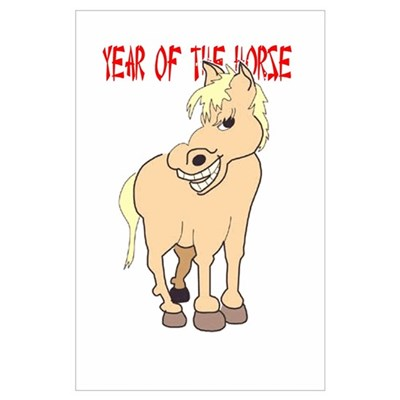 Year of the Horse Wall Art Poster