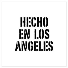 Hecho en Los Angeles (Stencil Wall Art Framed Print