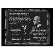Foucault's Critique Wall Art Framed Print