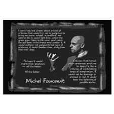 Foucault's Critique Wall Art