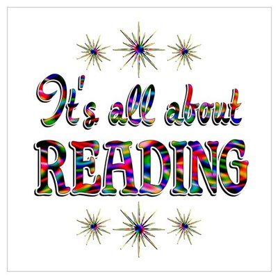 About Reading Wall Art Poster