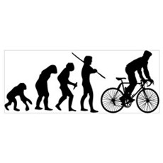 Cycling Evolution Wall Art Poster