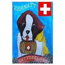 St Bernard Switzerland Wall Art Poster
