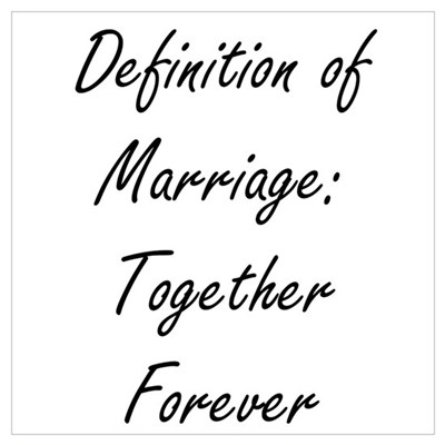 Marriage Wall Art Poster