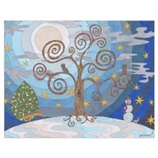 A Cold Winters Night Wall Art Poster