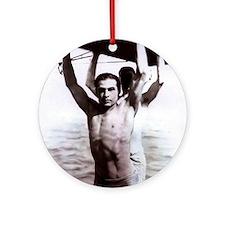 Rudolph Valentino Swimsuit Pi Ornament (Round)
