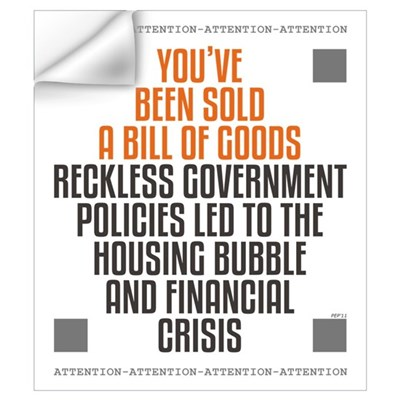 Reckless Government Policies Wall Art Wall Decal