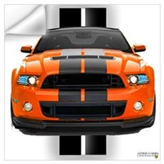 New Mustang GT Orange Wall Art Wall Decal