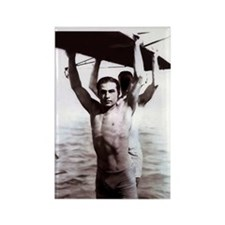 Rudolph Valentino Swimsuit Pi Rectangle Magnet