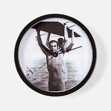Rudolph Valentino Swimsuit Pi Wall Clock