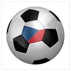 Czech soccer ball Wall Art Poster