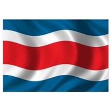 Flag of Costa Rica Wall Art Canvas Art