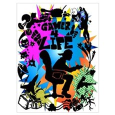 Gamer 4 Life Wall Art Poster