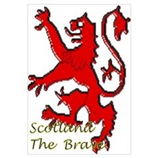 Scotland the Brave Wall Art Poster