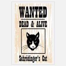Wanted Schrodingers Cat Wall Art