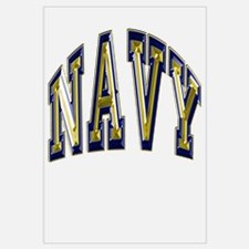 USN Navy Blue and Gold Wall Art