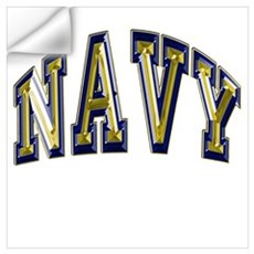 USN Navy Blue and Gold Wall Art Wall Decal
