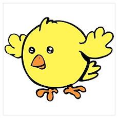 Cute Chick Wall Art Poster