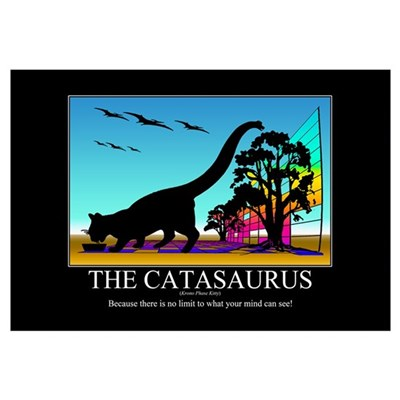 CATASAURUS - Motivational Poster Canvas Art
