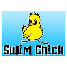 Swim Chick Wall Art Poster