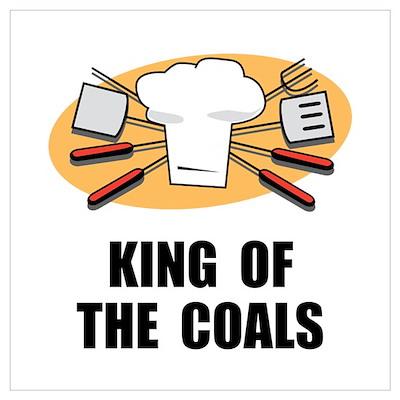 King Of Coals Wall Art Poster