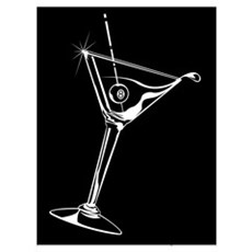 8-Ball Martini Wall Art Framed Print