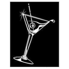 8-Ball Martini Wall Art Poster