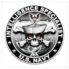 USN Intelligence Specialist S Wall Art Poster