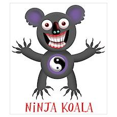 Ninja Koala Wall Art Poster