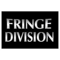 Cool Metallic Fringe Division Wall Art Poster