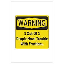Warning Fraction Wall Art