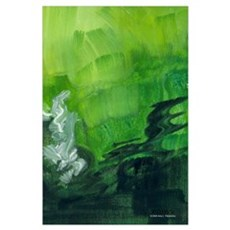 green study emws Wall Art Poster