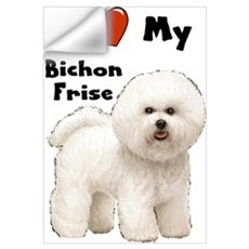 I Love My Bichon Frise Wall Art Wall Decal