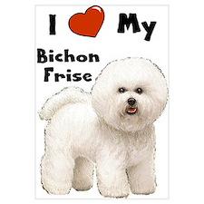 I Love My Bichon Frise Wall Art