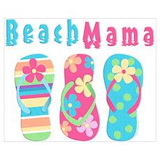 Beach Mama Wall Art Poster