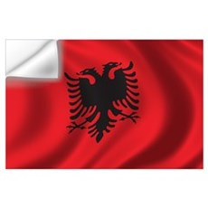 Flag of Albania Wall Art Wall Decal