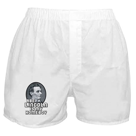 Abe Lincoln is my Homeboy Boxer Shorts