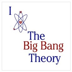 I Love Big Bang Theory Wall Art Poster