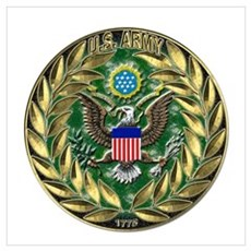 US Army Eagle Wreath Wall Art Poster