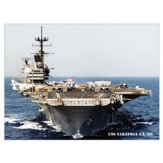 USS SARATOGA Wall Art Canvas Art
