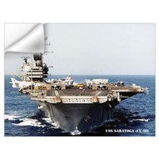 USS SARATOGA Wall Art Wall Decal
