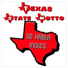 Texas State Motto Wall Art Poster